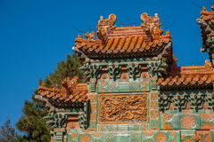 Station de sports d'hiver de Chengde, Putuo, province de Hebei par le temple de la voûte en verre Photos stock
