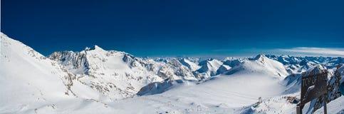 Station de sports d'hiver de glacier de Neustift Stubai Photo libre de droits