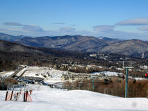 Station de sports d'hiver de Killington, VT image libre de droits