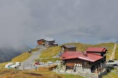 Station de sports d'hiver de lac Balea Photographie stock