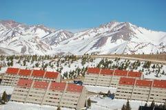 Station de sports d'hiver de Las Lenas Photographie stock