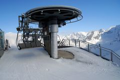Station de sports d'hiver de montagne de Kasprowy Photographie stock
