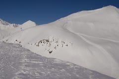 Station de sports d'hiver de montagne de Sadzele Photos libres de droits
