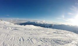 Station de sports d'hiver de montagnes de Milou Photographie stock libre de droits