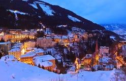 Station de sports d'hiver de montagnes mauvais Gastein Autriche Photo libre de droits