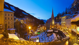 Station de sports d'hiver de montagnes mauvais Gastein Autriche Photo stock
