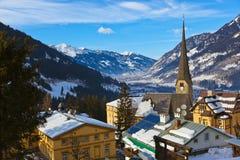 Station de sports d'hiver de montagnes mauvais Gastein Autriche Photographie stock