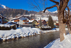 Station de sports d'hiver de montagnes mauvais Hofgastein - Autriche Image stock
