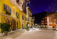Station de sports d'hiver de montagnes mauvais Hofgastein Autriche Images stock
