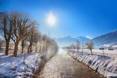 Station de sports d'hiver de montagnes mauvais Hofgastein - Autriche Images stock
