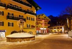 Station de sports d'hiver de montagnes mauvais Hofgastein Autriche Images libres de droits