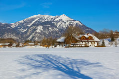 Station de sports d'hiver de montagnes Strobl Autriche Photos stock