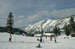 Station de sports d'hiver de passage de Stevens Photos stock