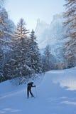 Station de sports d'hiver de Selva di Val Gardena, Italie image libre de droits