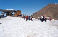 Station de sports d'hiver de Shymbulak Passage de Talgar Photo libre de droits
