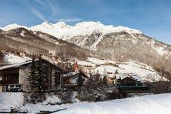 Station de sports d'hiver de Soelden, Autriche Images stock