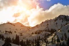 Station de sports d'hiver de Squaw Valley Images libres de droits