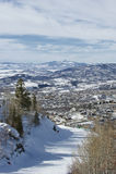 Station de sports d'hiver de Steamboat Springs image stock
