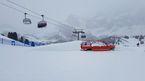 Station de sports d'hiver de Val Gardena Photos libres de droits
