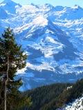 Station de sports d'hiver en Autriche Images libres de droits