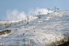 Station de sports d'hiver en le Kyrgyzstan Photographie stock