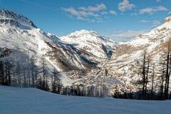 Station de sports d'hiver d'Isère de ` de Val d dans les Frances images stock