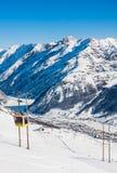 Station de sports d'hiver Livigno l'Italie Photographie stock libre de droits