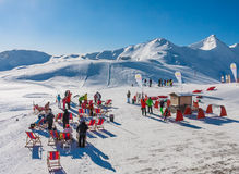 Station de sports d'hiver Livigno l'Italie Images libres de droits