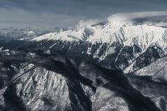 Station de sports d'hiver olympique, Krasnaya Polyana, Sotchi, Russie Images libres de droits