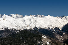 Station de sports d'hiver Rosa Khutor Montagnes de Krasnaya Polyana Sotchi, Russie Images libres de droits
