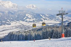 Station de sports d'hiver Schladming. Autriche photos libres de droits