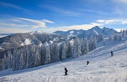 Station de sports d'hiver Schladming. Autriche Photos stock