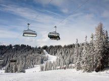 Station de sports d'hiver Schladming. l'Autriche photos libres de droits