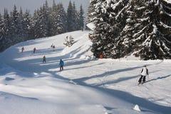 Station de sports d'hiver Schladming. l'Autriche photographie stock libre de droits