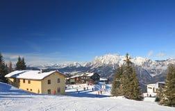 Station de sports d'hiver Schladming l'autriche Image stock