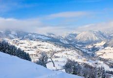 Station de sports d'hiver Schladming l'autriche photographie stock libre de droits