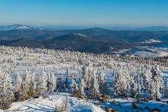 Station de sports d'hiver Sheregesh, secteur de Tashtagol, Kemerovo Photographie stock