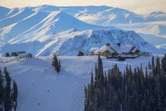Station de sports d'hiver de Sun Valley, Idaho Photo libre de droits