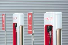 Station de surchauffeur de Tesla Image libre de droits