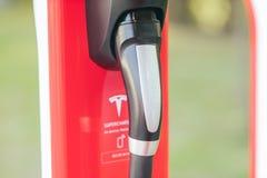 Station de surchauffeur de Tesla photo stock