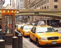 Station de taxis, New York City Images libres de droits