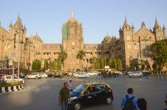 Station de terminus de Victoria, Mumbai, Inde images stock