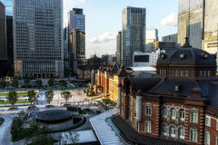 Station de Tokyo pendant le coucher du soleil Image libre de droits
