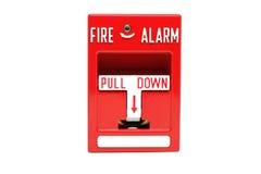Station de traction d'alarme d'incendie Photos stock
