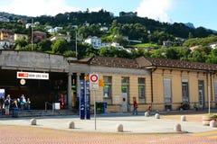 Station de train à Bellinzona, Suisse Images libres de droits
