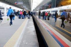 Station de train à grande vitesse image stock