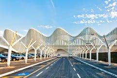 Station de train à grande vitesse en Reggio Emilia, Italie Photo stock