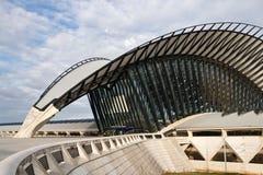 Station de train à l'aéroport de Saint-Exupery, Lyon Images stock