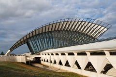 Station de train à l'aéroport de Saint-Exupery, Lyon Photographie stock
