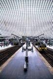 Station de train à Liège, Belgique Photos libres de droits